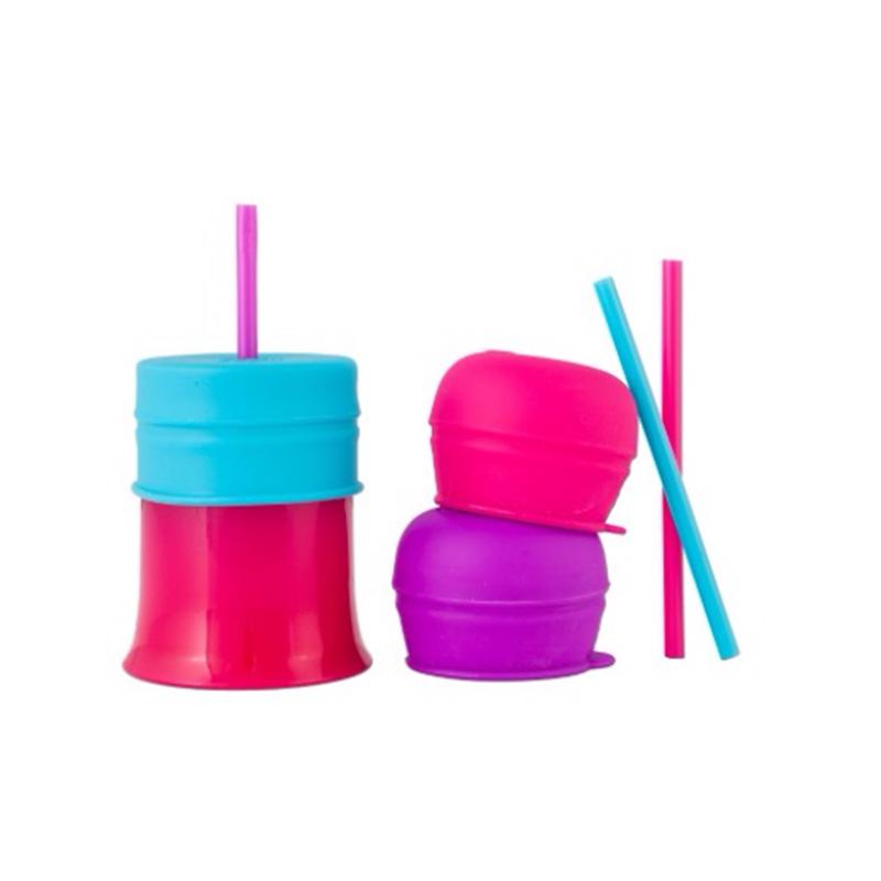 Boon--啵儿幼儿学饮吸管套嘴杯盖(含三个套嘴三个吸管)女孩(12月以上)1套/个