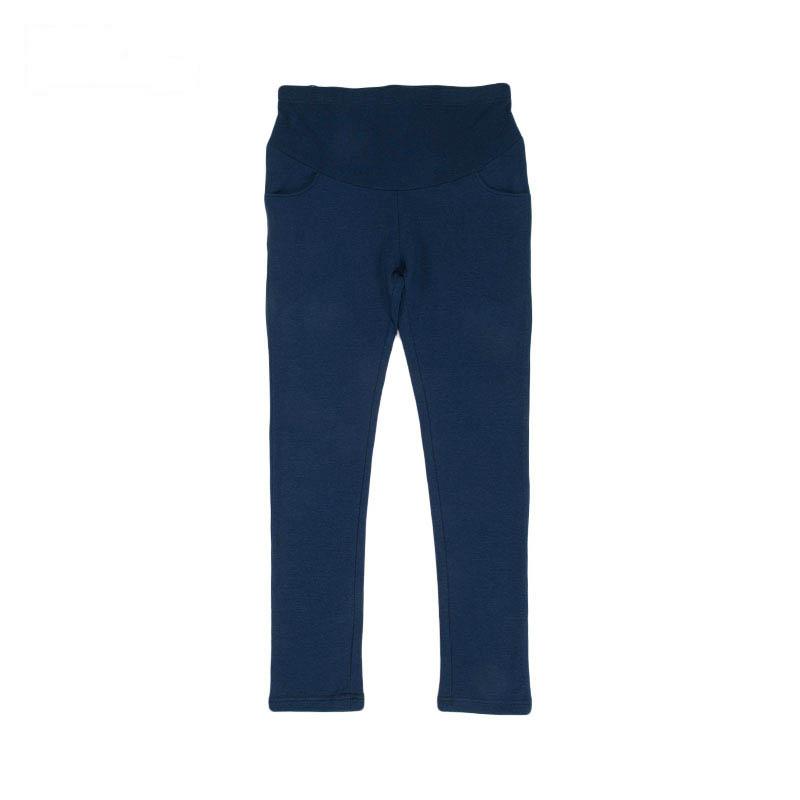 歌瑞家针织合体裤藏蓝