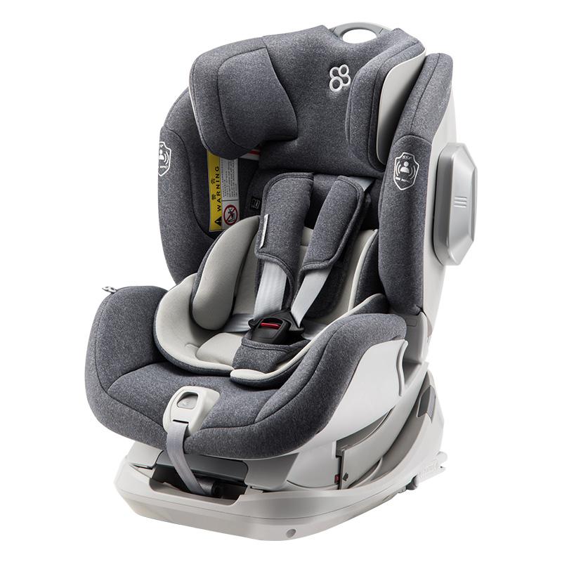 宝贝第一灵犀新生婴儿宝宝正反向旋转汽车用儿童安全座椅 北极灰