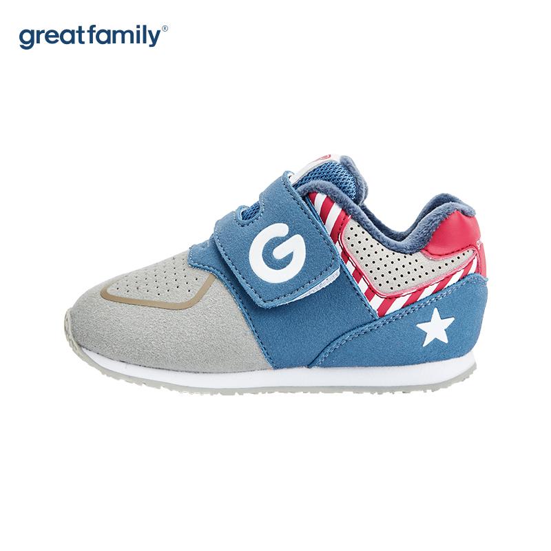 歌瑞家(greatfamily)男童慢跑鞋GKS-003SH蓝