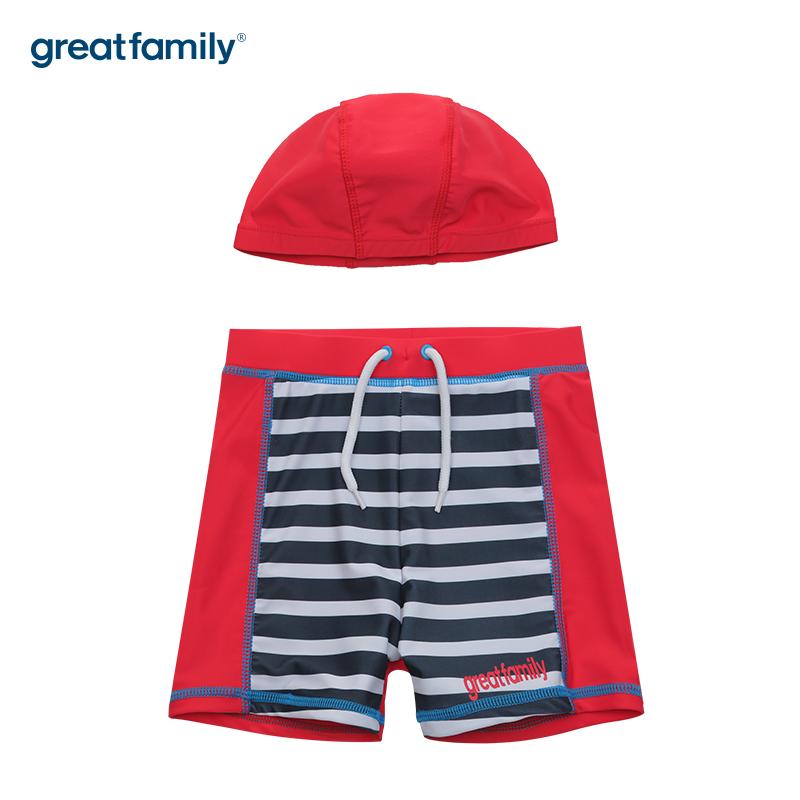 歌瑞家A类男童红色泳裤