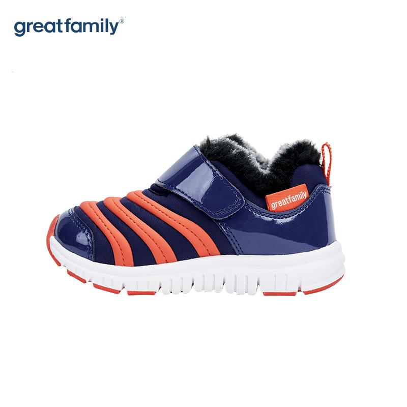 歌瑞家(greatfamily)男婴毛毛虫运动鞋GKS-004SH蓝