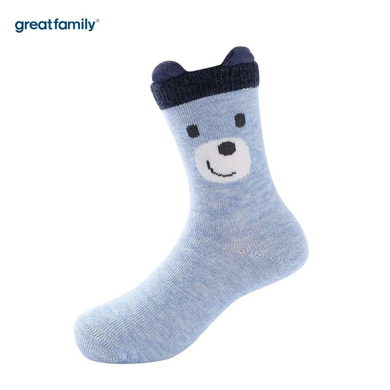 歌瑞家A类蓝色男童短筒棉袜