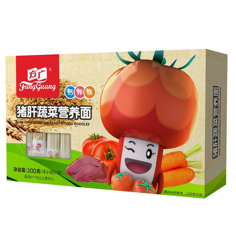 方广猪肝蔬菜营养面300g6个月以上
