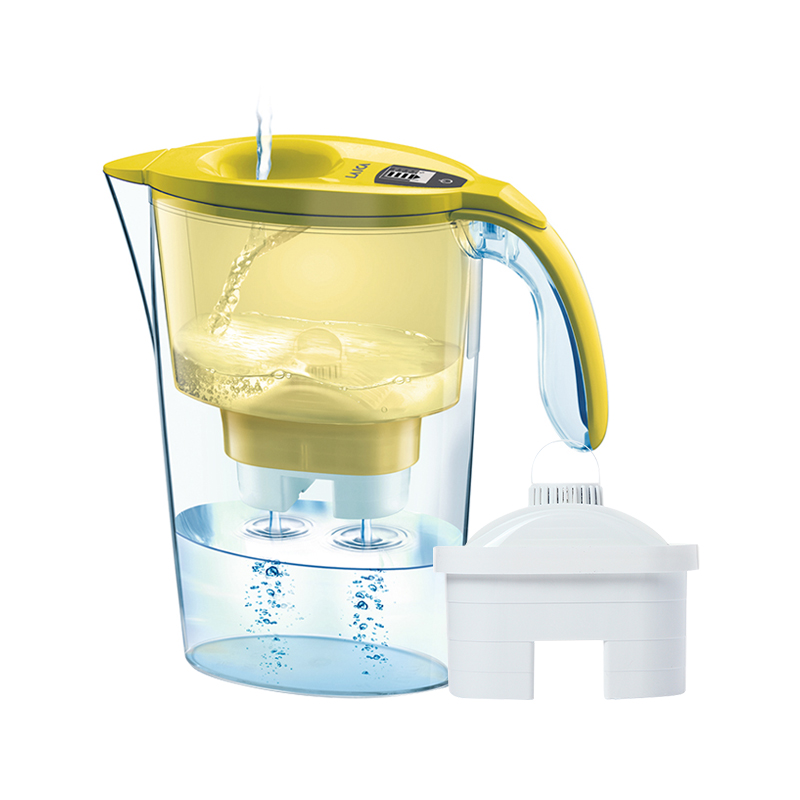 LAICA 莱卡 意大利原装进口 电子计时 时尚彩色系列免掀盖滤水壶 2.3L颜色随机发货 一壶一芯
