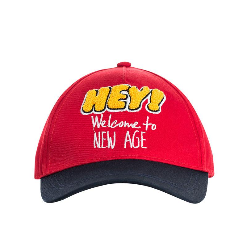 歌瑞家A类男童红色梭织棒球帽