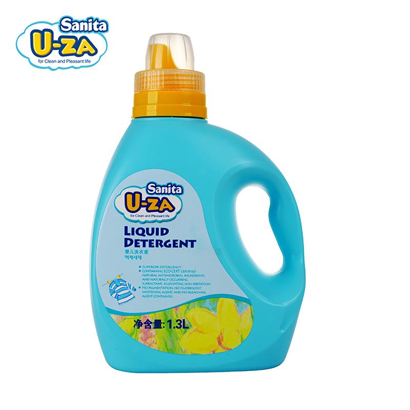 U-za韩国进口婴儿洗衣液1300ml清洁柔顺