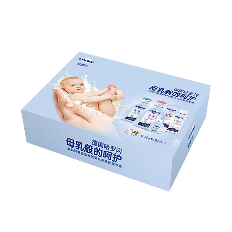 哈罗闪新生儿洗护呵护礼盒新生儿4件/套