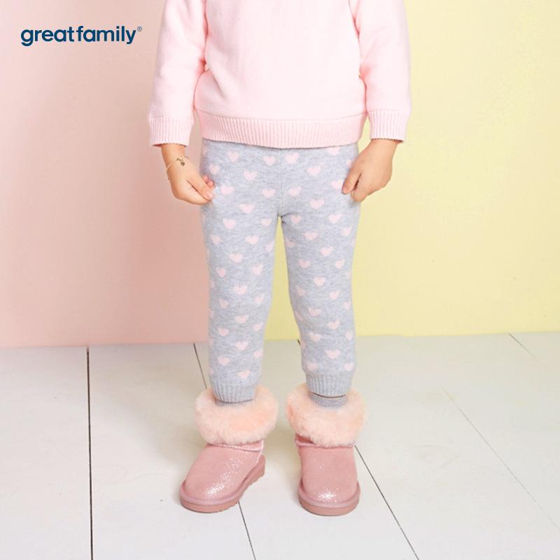 歌瑞家(Greatfamily)A类女宝宝花色黄金绒内里线裤