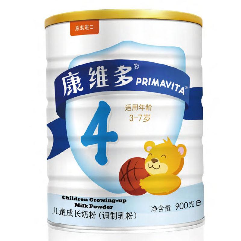 康维多Primavita金装4段儿童成长全脂奶粉3至7岁900g荷兰进口