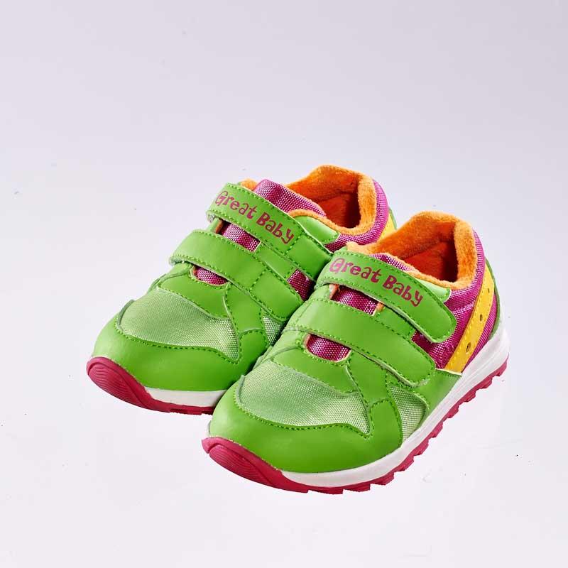 歌瑞贝儿(新)--运动休闲婴儿鞋GB144-036SH绿13.5CM