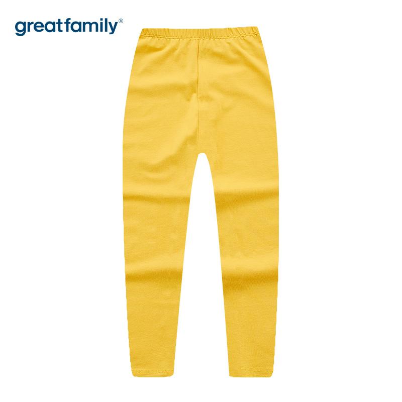 歌瑞家A类单面布女童黄色打底裤