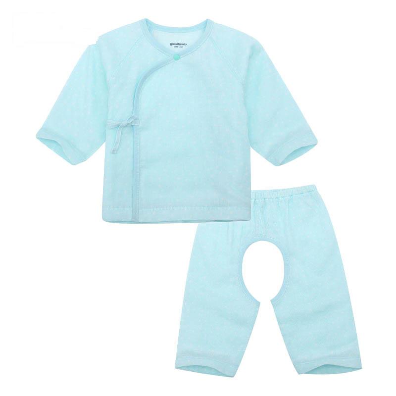 歌瑞家A类男宝宝花色纱布和短袍套装