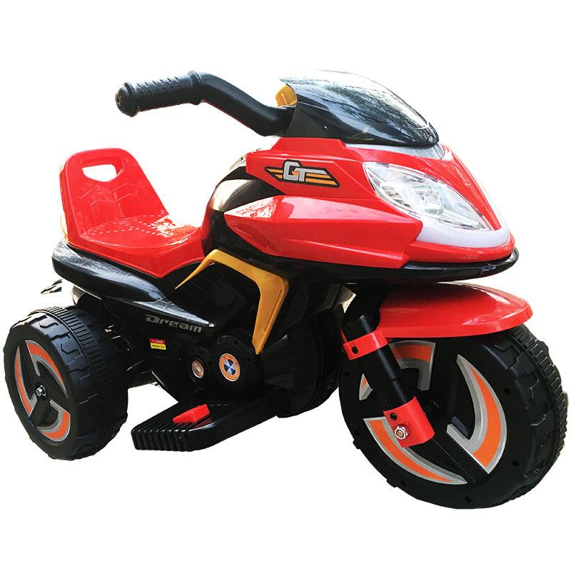 锋达儿童电动小摩托车宝宝可坐三轮电动童车小孩充电瓶车电动摩托车9801A红色