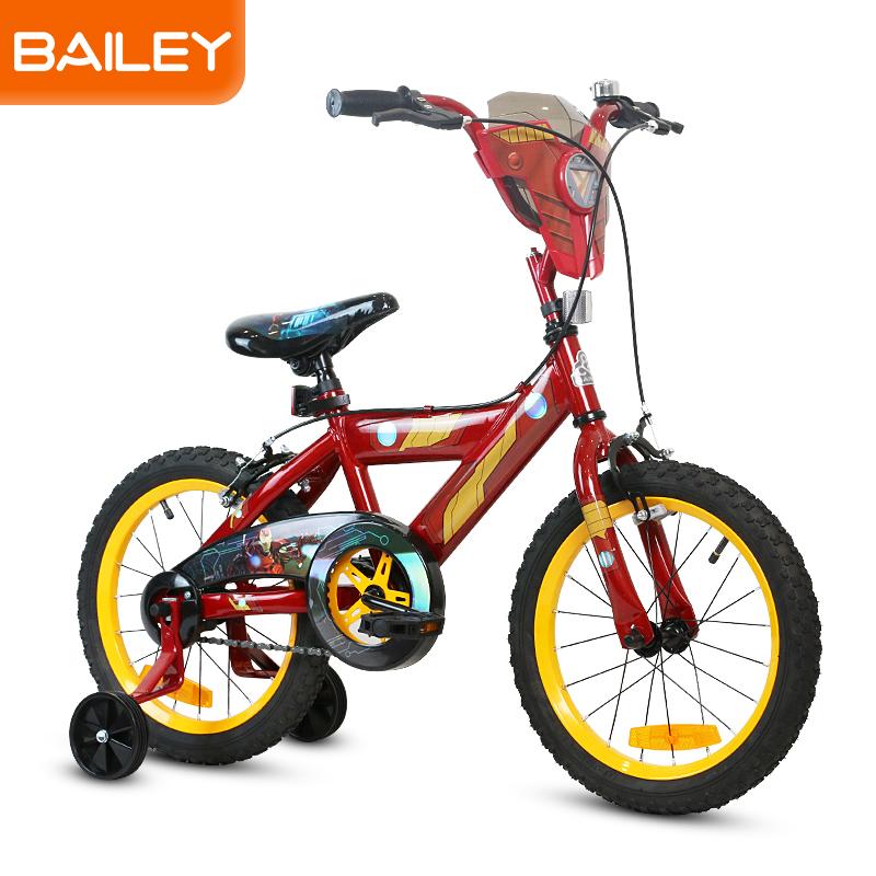 贝乐童车迪士尼系列钢铁侠盾牌自行车20寸 黄色