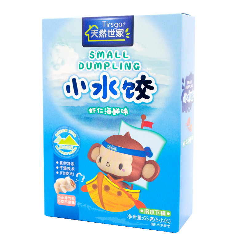天然世家--小水饺(虾仁海鲜味)65g/盒