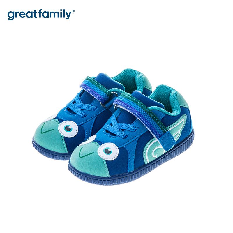 歌瑞贝儿(新)男婴可爱动物叫叫鞋GB183-016SH蓝13CM双