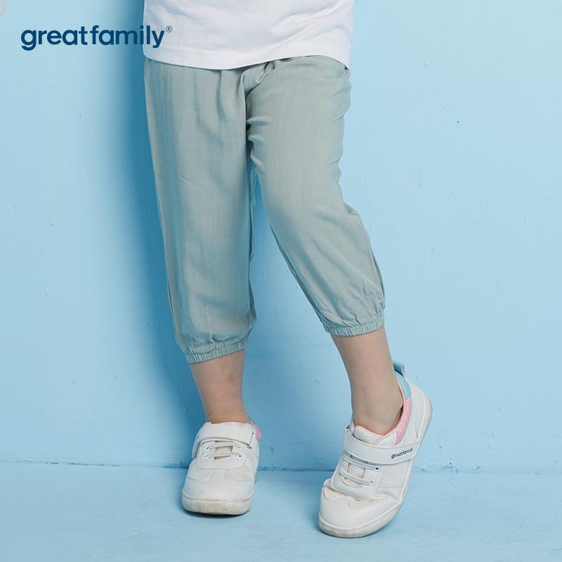 歌瑞家A类男女通用粉绿色梭织长裤100CM
