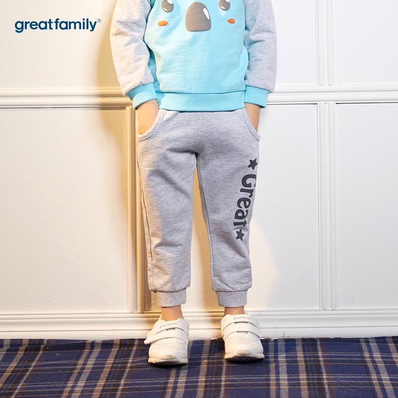 歌瑞家(婴外)A类时尚宝贝灰色男卫裤