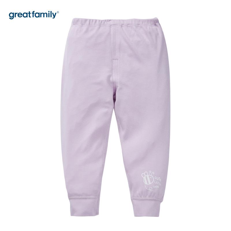 歌瑞家(Greatfamily)A类女宝宝牛奶蛋白纤维紫色开闭裆长裤