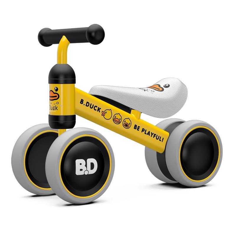 乐的平衡车滑步车儿童10-24个月宝宝溜溜车无脚踏婴儿滑行车学步玩具小黄鸭1003
