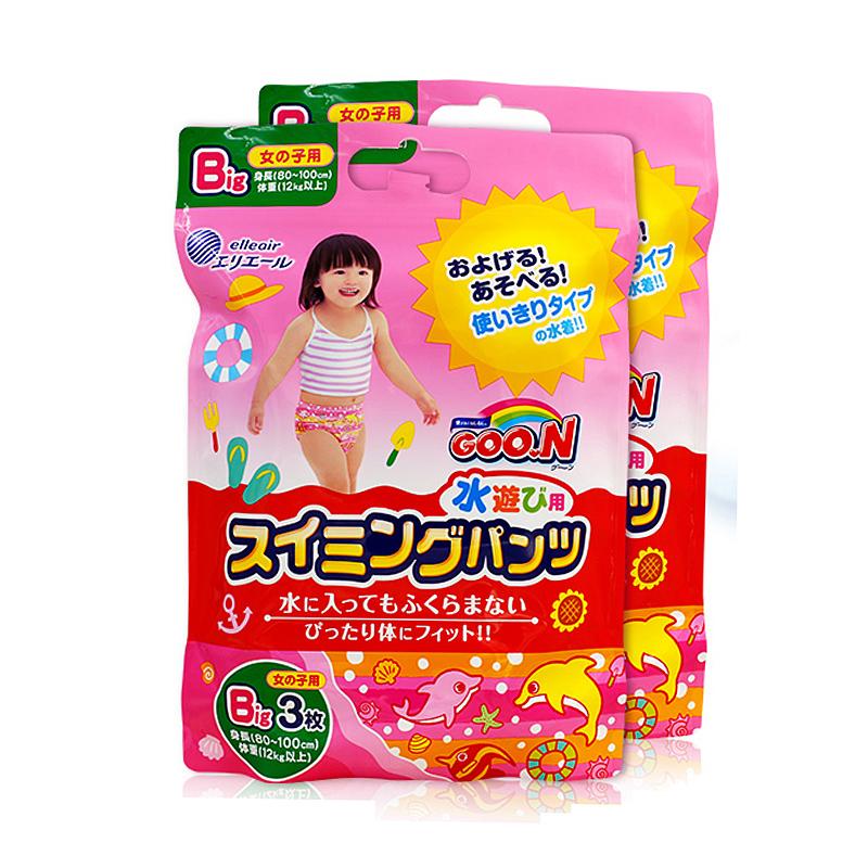 GOO.N短裤式游泳裤系列纸尿裤(女宝宝)XL3片