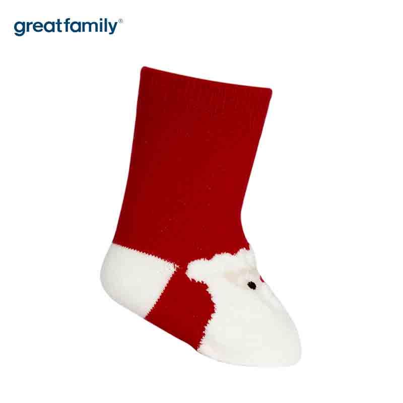 歌瑞家A类红色圣诞男童中筒袜