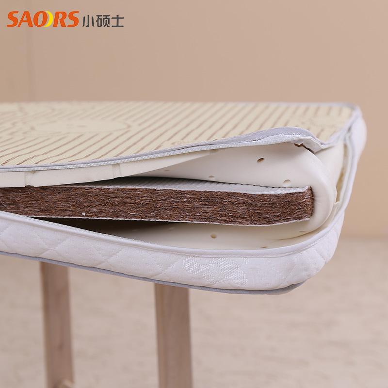 小硕士全棉防螨床垫带凉席面冬夏两用1200*630*50