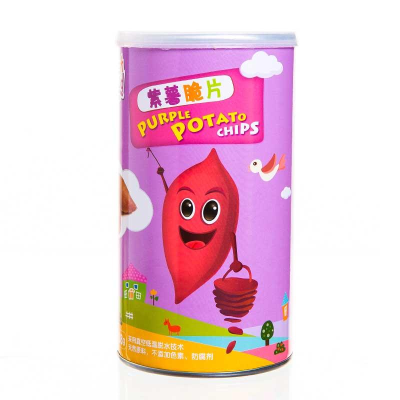 乐健儿GreatFood营养果蔬辅食系列紫薯脆片88g