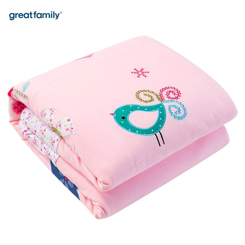 歌瑞家(Greatfamily)A类针织被子(活套)蝴蝶花园款粉色110*140cm