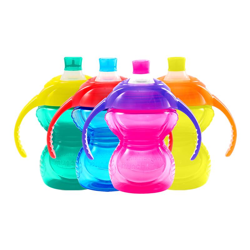 满趣健防咬损幼儿训练杯婴儿鸭嘴杯儿童学饮杯宝宝喝水杯颜色随机