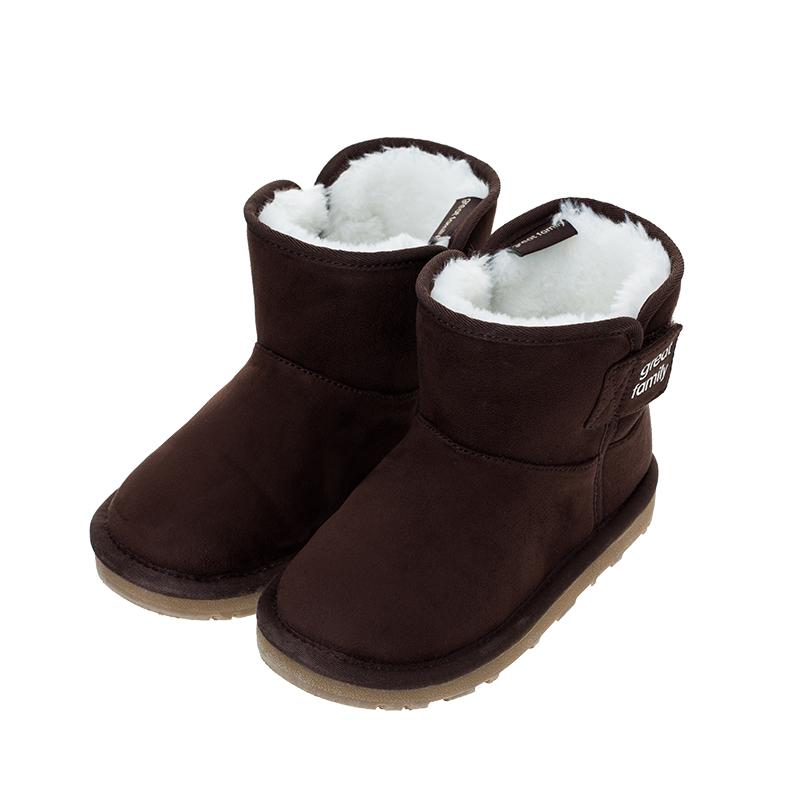 歌瑞凯儿(新)中性雪地靴GKR4-006SH褐色17CM双(无鞋盒)