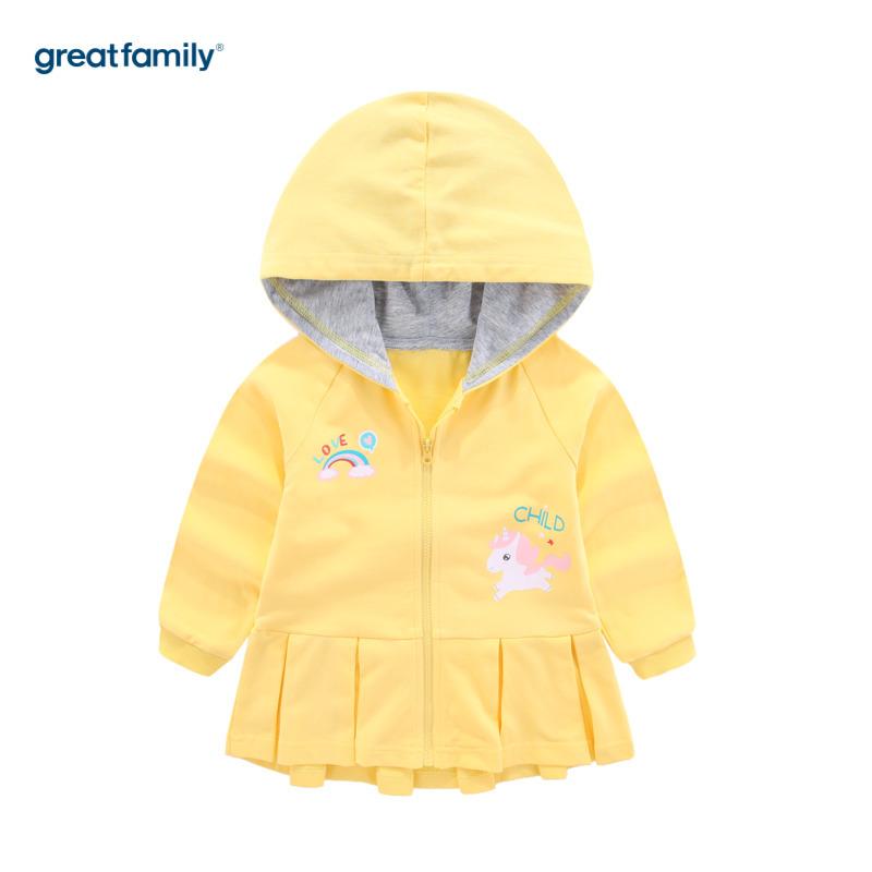 歌瑞家A类梦想王国黄色女花边针织外套