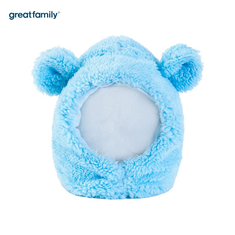 歌瑞家(Greatfamily)A类通用蓝色针织帽