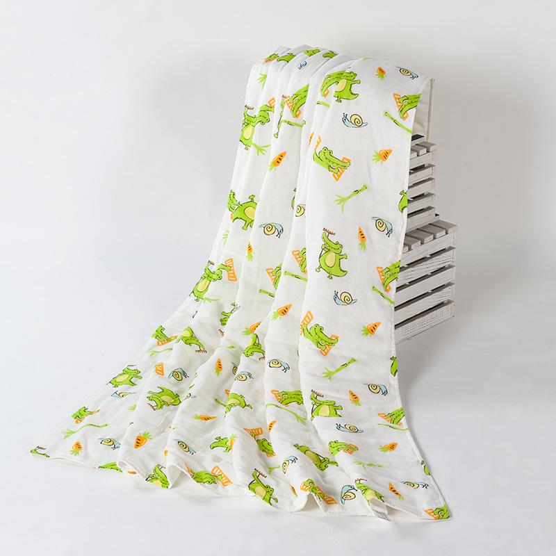 歌瑞家greatfamily竹纤维纱布空调被绿色110*140cm