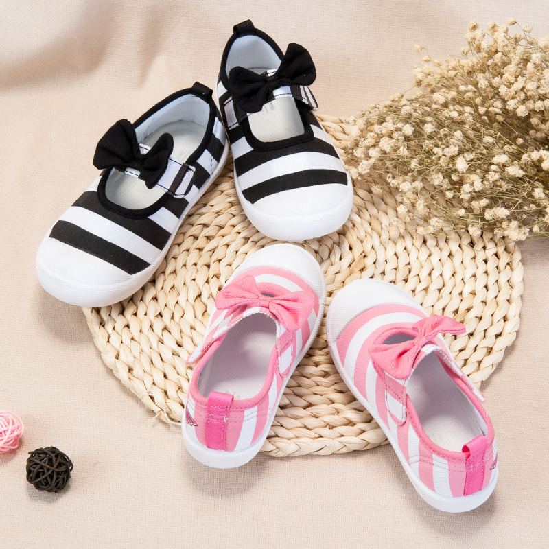 歌瑞家(greatfamily)女婴公主帆布鞋GB181-018SH黑15CM双