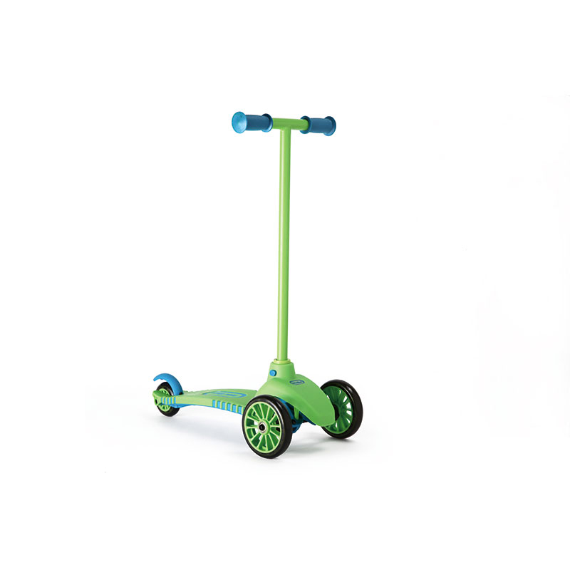 小泰克--儿童三轮滑板车-新款(绿色)包装破损