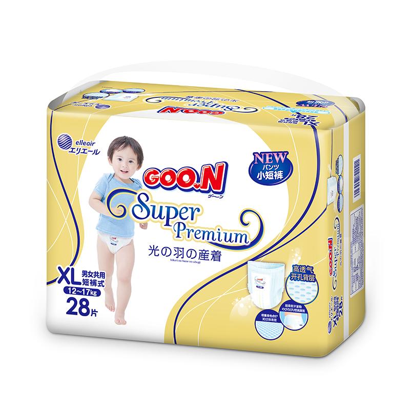 GOO.N(大王)短裤式纸尿裤光羽系列XL