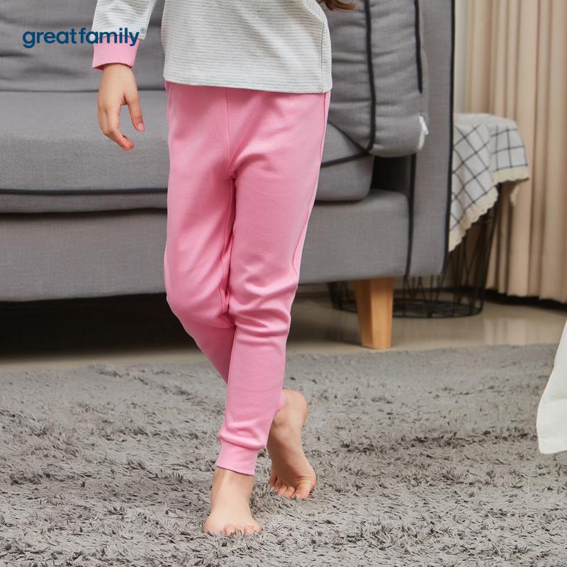 歌瑞家A类双面布系列粉色女女童长裤