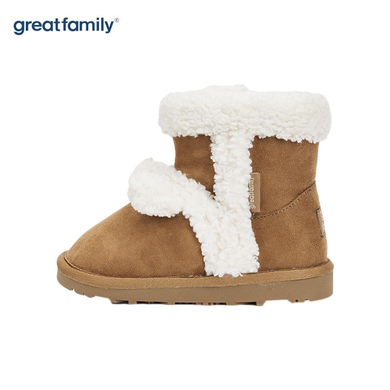 歌瑞家(greatfamily)女婴雪地靴GKS-011SH棕色