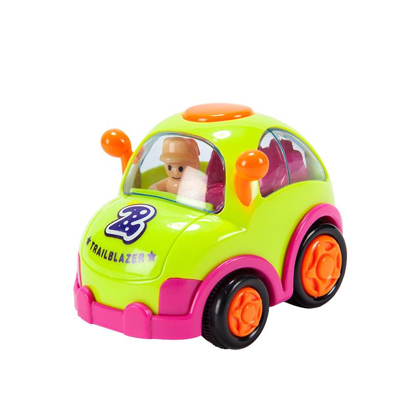 字母婴幼儿益智趣味玩具惯性车带人仔