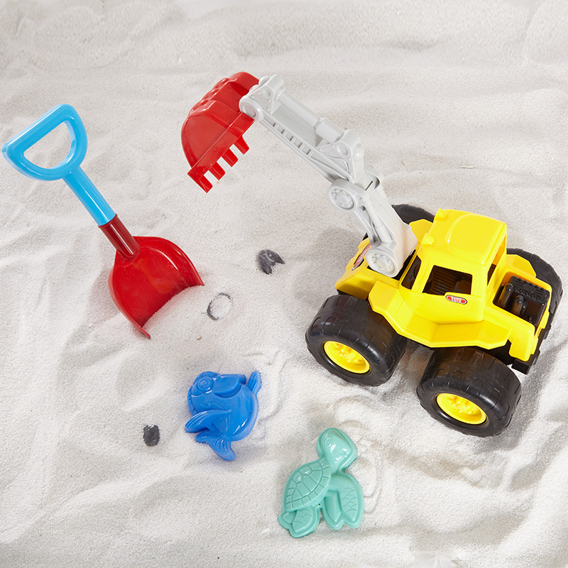 字母沙滩工程车(沙滩抓钩车)4PCS