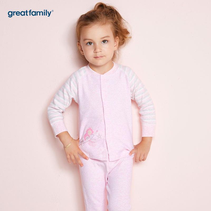 歌瑞家(Greatfamily)A类女宝宝舒绒混色内衣/对襟上衣