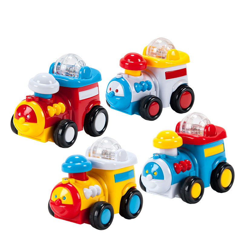 字母婴幼儿益智趣味玩具惯性滚珠火车(颜色随机)