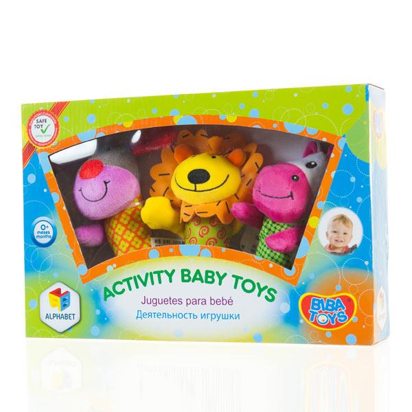 字母动物摇铃礼盒装 益智毛绒玩具