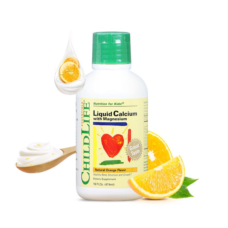【品牌直供】童年时光ChildLife钙镁锌液体钙(6个月以上)474ml