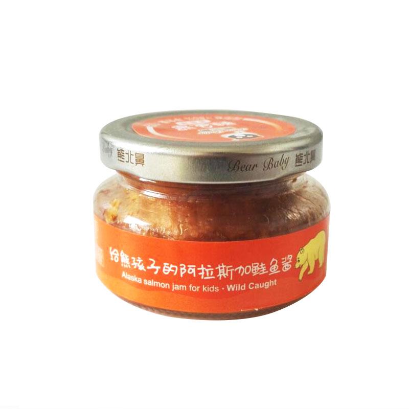 熊北鼻L-阿拉斯加鲑鱼酱番茄味100g