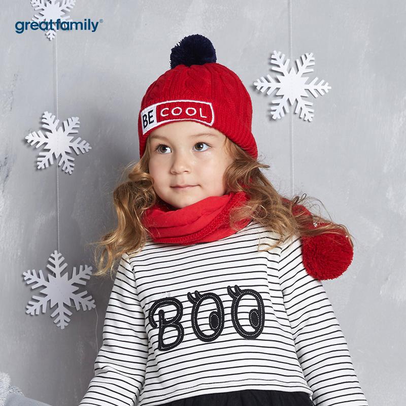 歌瑞家(Greatfamily)A类通用红色针织帽