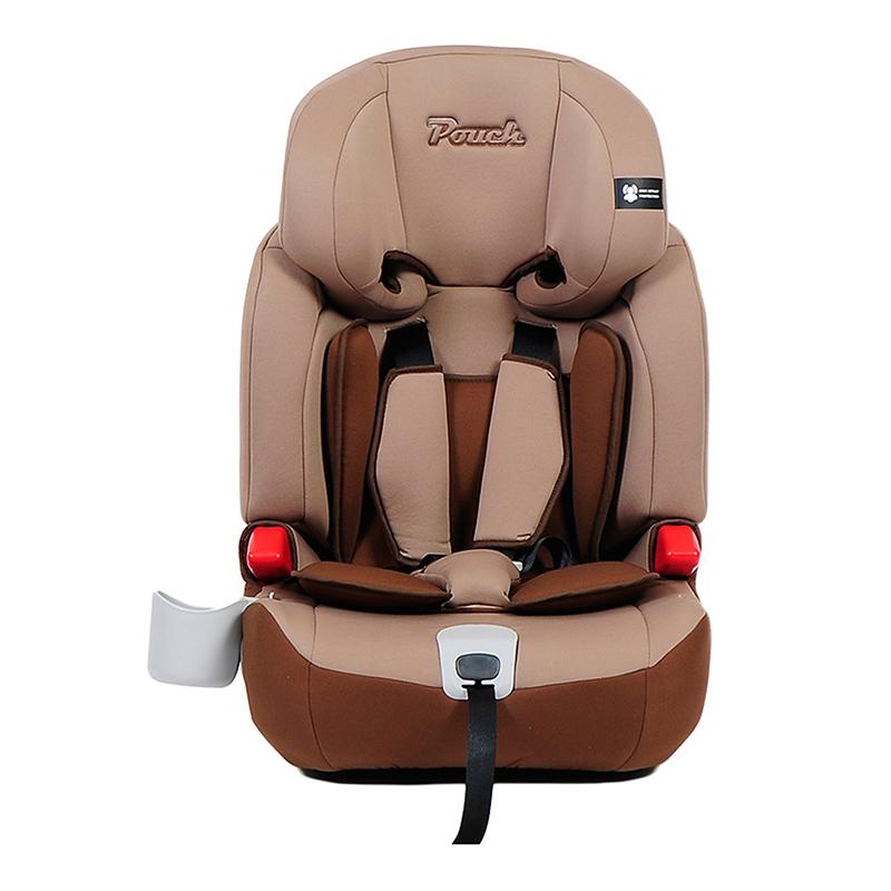 Pouch适用9个月-12岁儿童安全座椅isofix接口KS16咖啡色