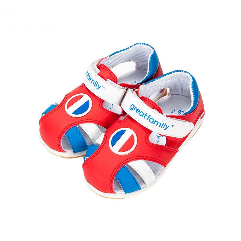 歌瑞贝儿男婴时尚凉鞋GB162-014SH红13.5cm双